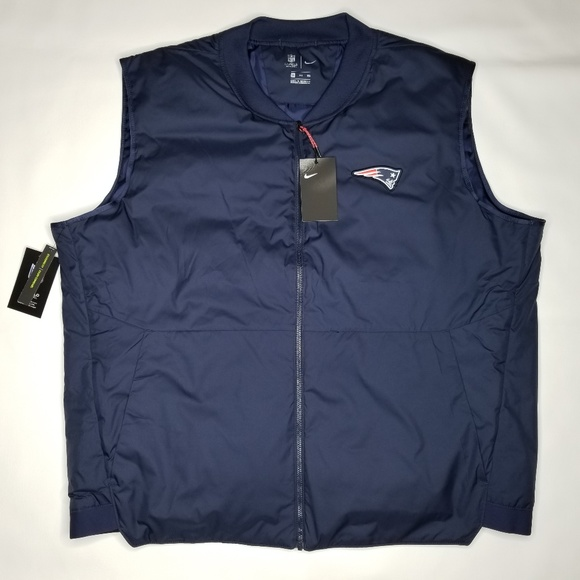 deac90cf Nike New England Patriots On Field Vest Jacket 3XL NWT